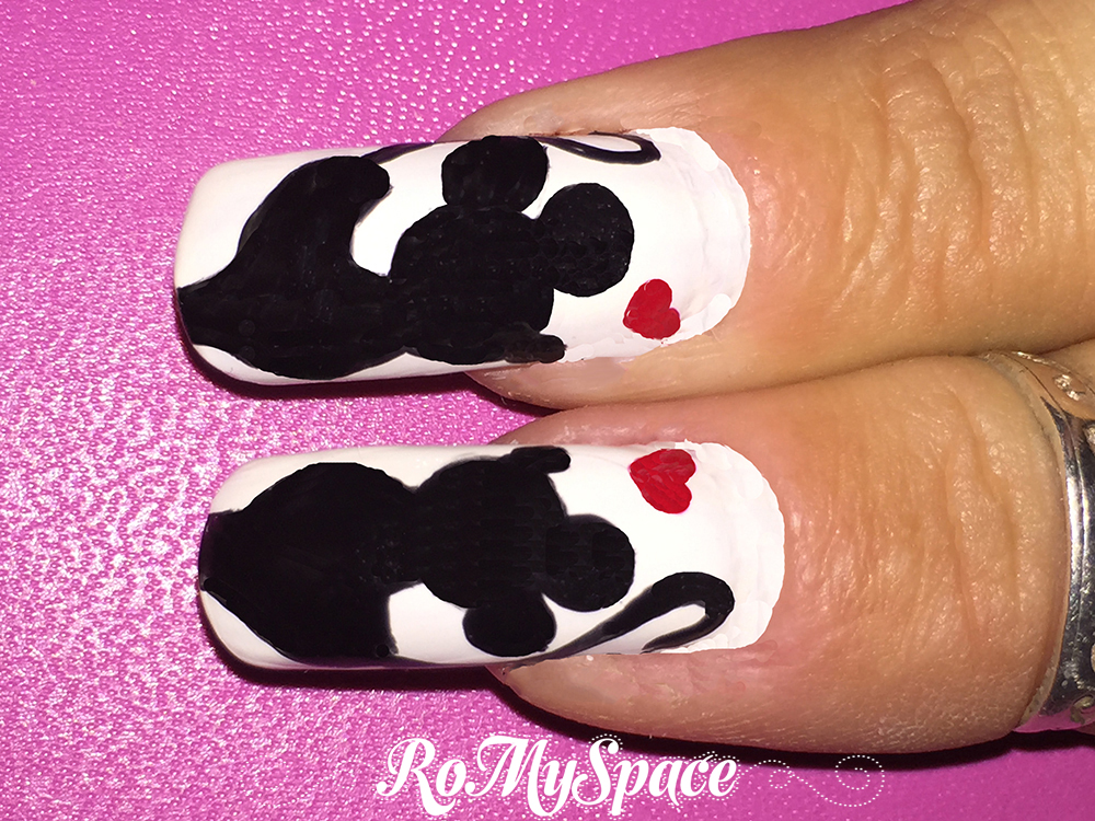 Nail Art Minnie e Mickey in Love