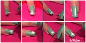 Tiffany nail art step by step