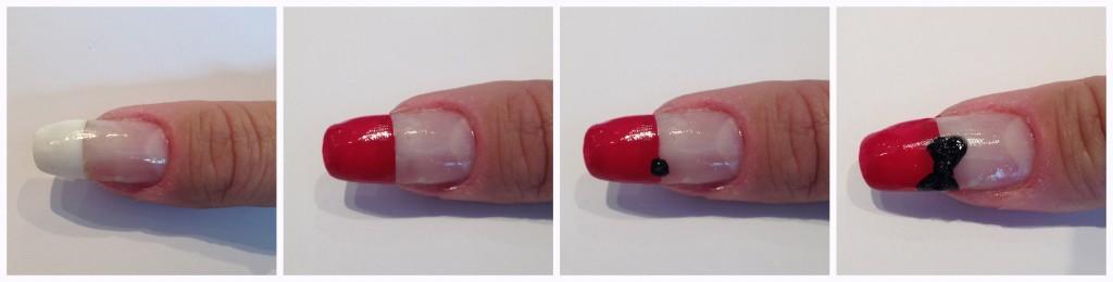 nailart nails nail art unghie decorazione minnie topolina rosso nero bianco red black white romyspace