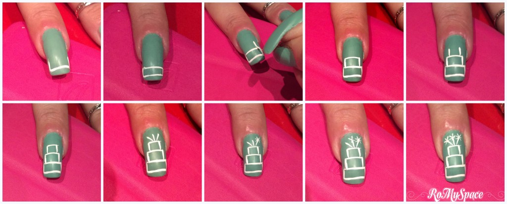 Compleanno nail art - step by step