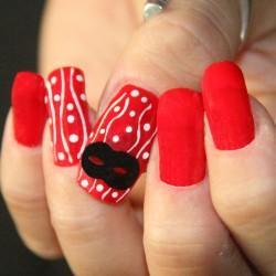 Mardì gras nail art