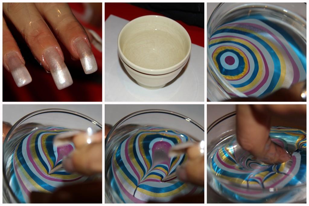 nails nailart unghie marmorizzate marble colori romyspace