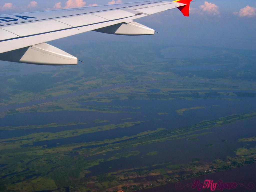 Rio delle Amazzoni dall'aereo