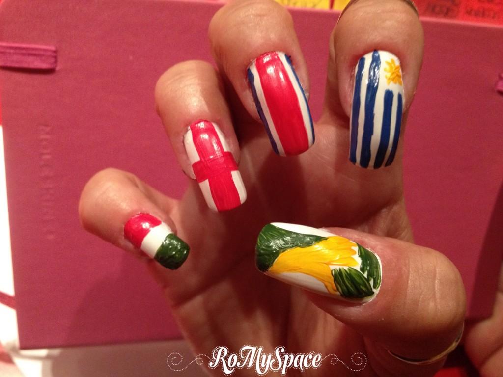 bandiera flag world cup 2014 brasile brasil coppa mondo mondiali calcio football soccer nailart nails unghie polish smalto decorazione pollice