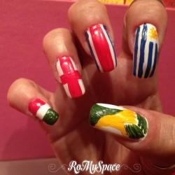 Nail art Brasile 2014: il girone dell'Italia