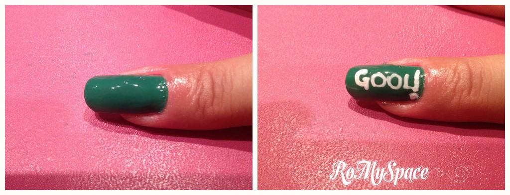 medio football calcio soccer wc2014 world cup 2014 brasil2014 brasile2014 brasile brasil verde green pallone ball brazuca decorazione nails nail art romyspace