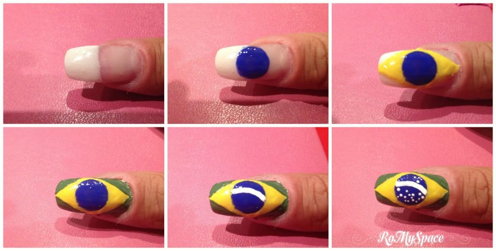 nailart nails unghie romyspace brasil2014 brasile2014 2014 mondiali calcio world cup fifa football soccer decorazione smalto polish copia