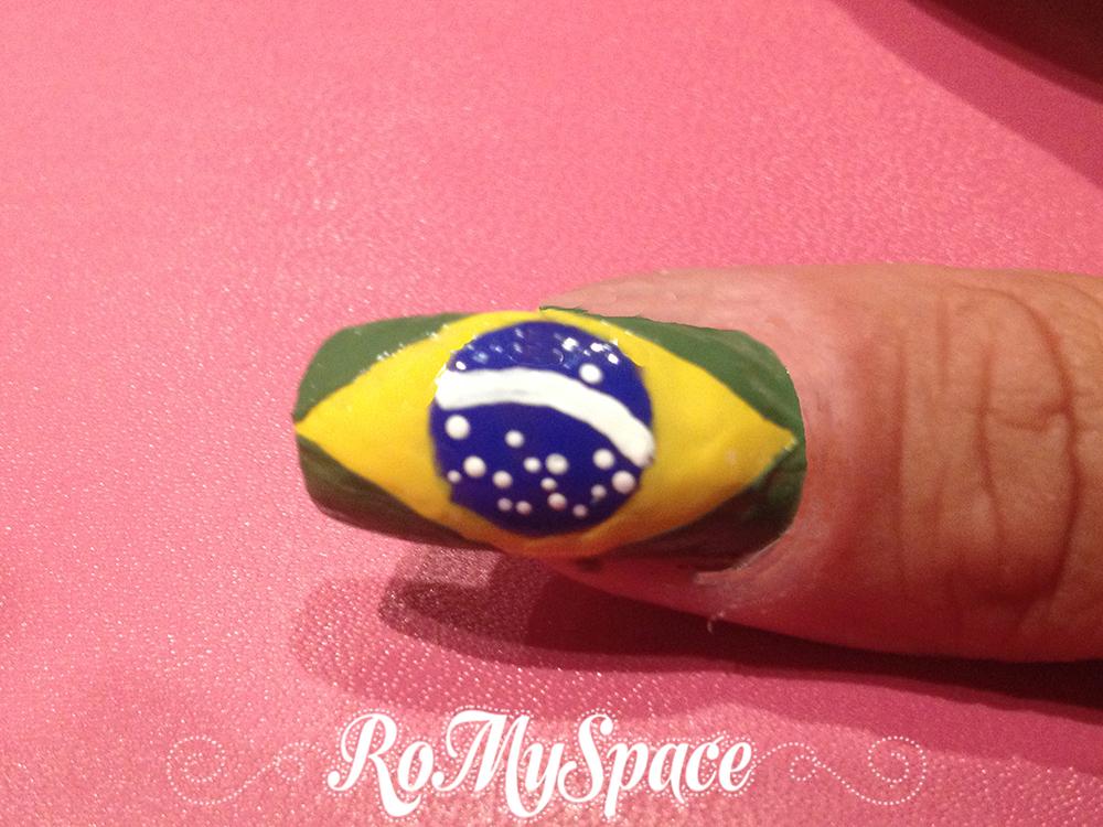 nailart nails unghie romyspace brasil2014 brasile2014 2014 mondiali calcio world cup fifa football soccer decorazione smalto polish finale