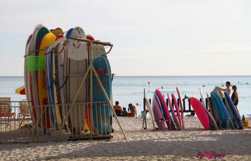tavole da surf a Waikiki