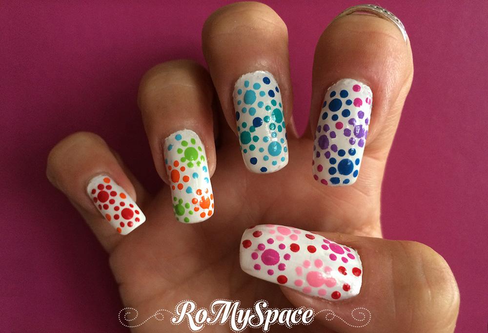 nailart nails nail art unghie decorazione romyspace bianco white finale