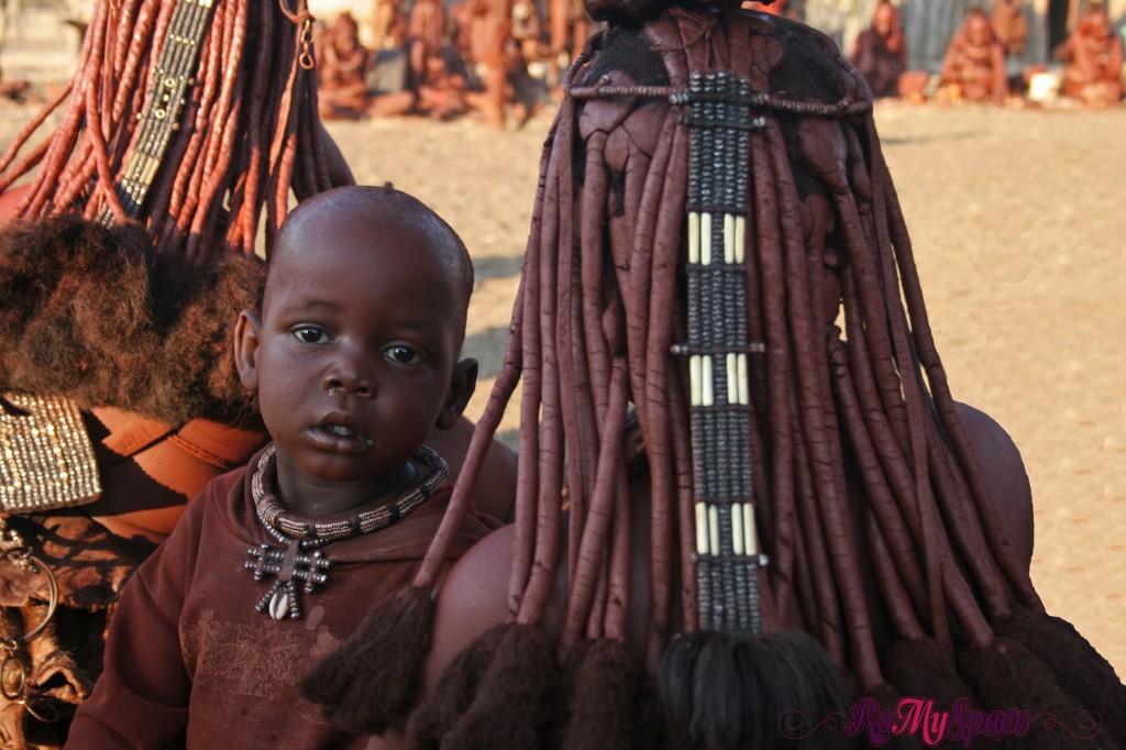 Villaggio Himba a Opuwo - Dettaglio delle tipiche acconciature
