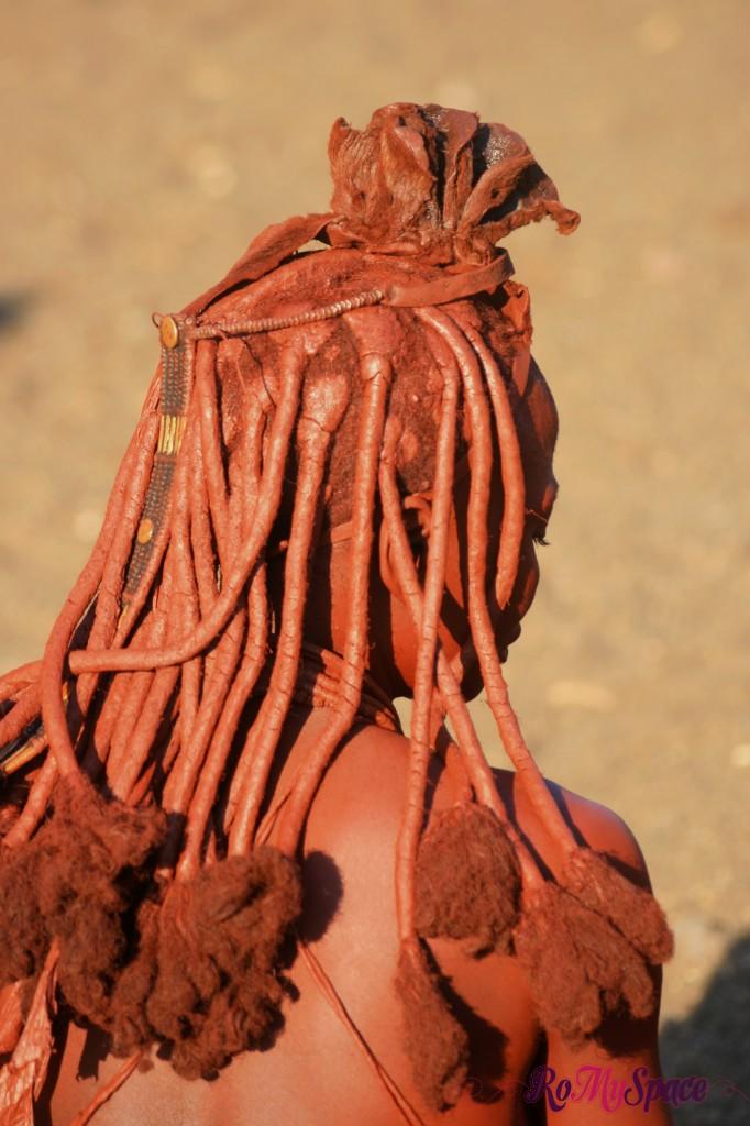 Villaggio Himba a Opuwo - Dettaglio delle acconciature