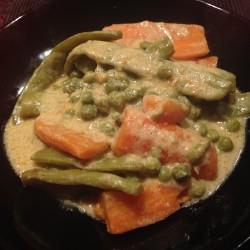 Verdure al curry verde