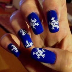 Nailart Fiocco di Neve