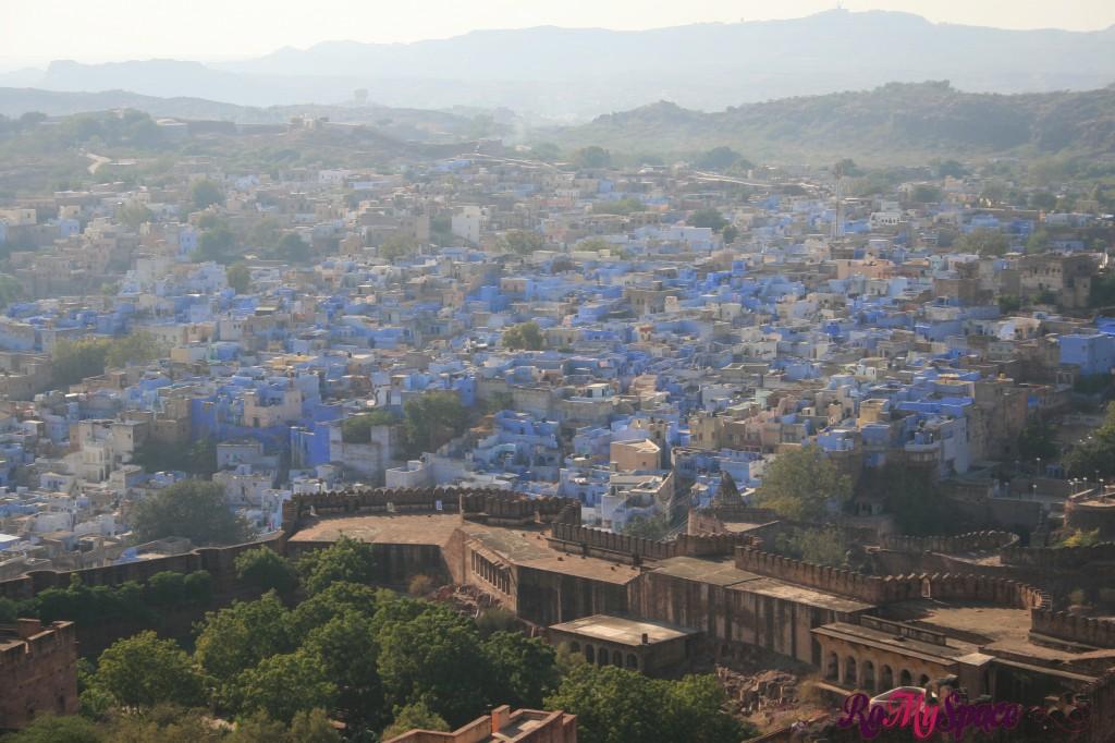 jodhpur - il forte - la vista dal forte - la città blu