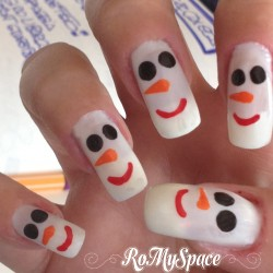 Nail Art Pupazzo di Neve