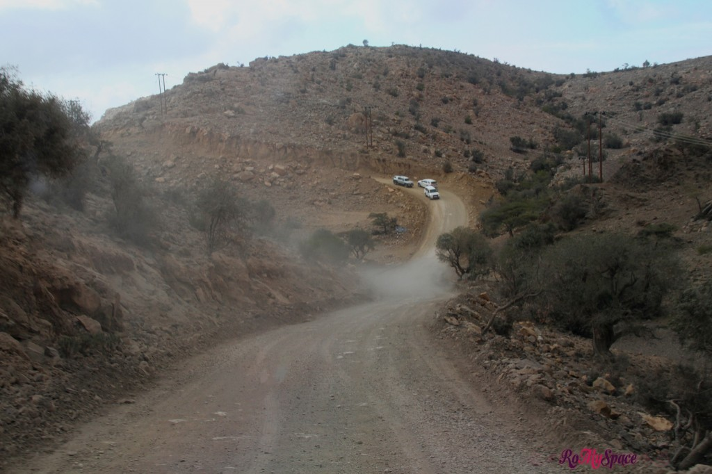 La strada per Wadi Ghul - Jabel Shams