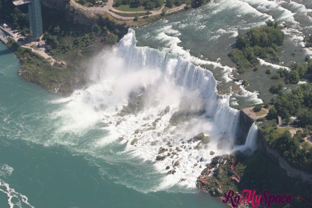 Bride Veil Falls dall'elicottero