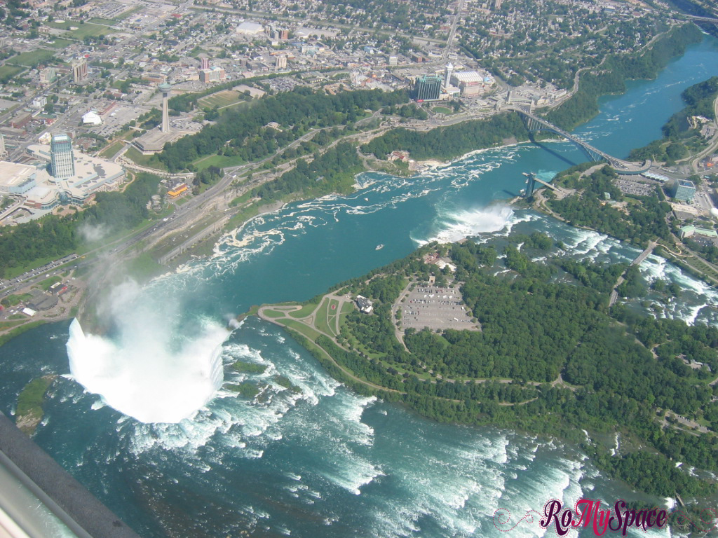Niagara Fall dall'elicottero