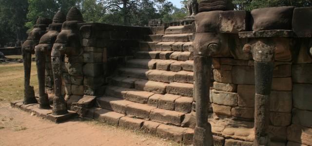 Terrazza degli elefanti ad Angkor