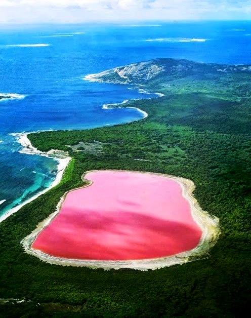 Pink Lake Hillier - credits Lakeaus