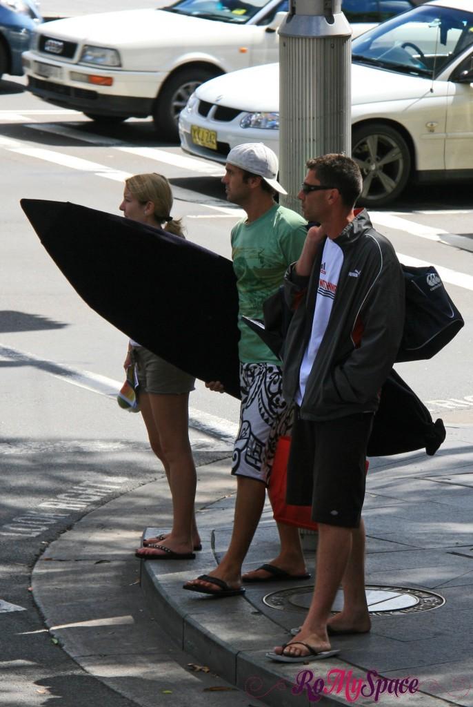 Surfers in Sydney