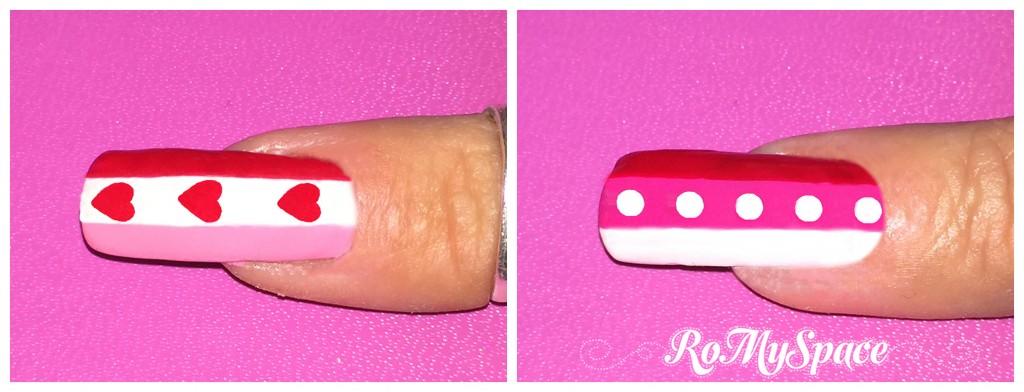 san valentino nails nail art nailart decorazione pennelli smalto polish dotter rosa pink bianco white valentine myvalentine love amore cuore heart finale