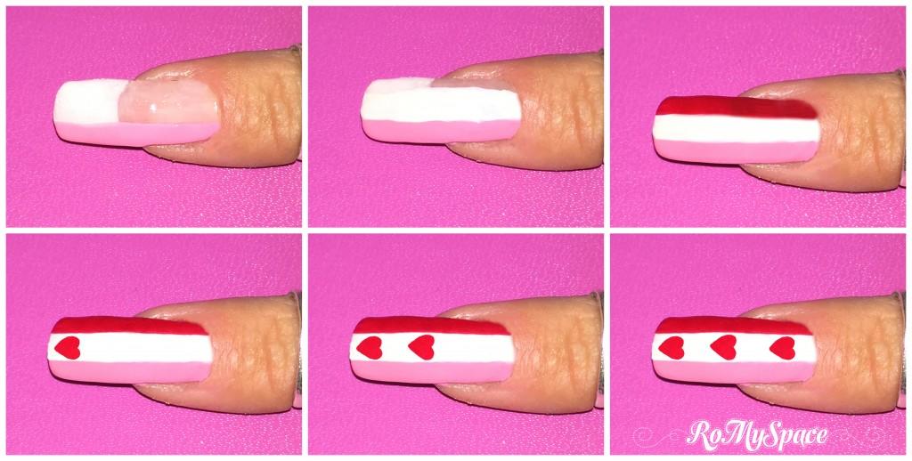 san valentino nails nail art nailart decorazione pennelli smalto polish dotter rosa pink bianco white valentine myvalentine love amore cuore heart indice