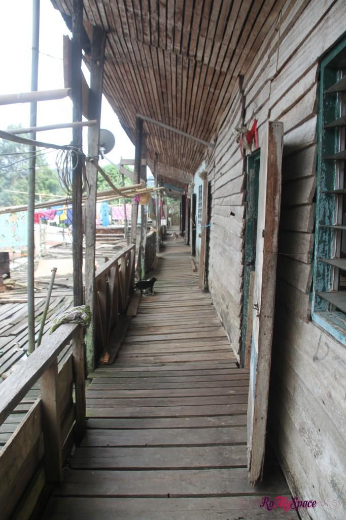 terrazza di una longhouse