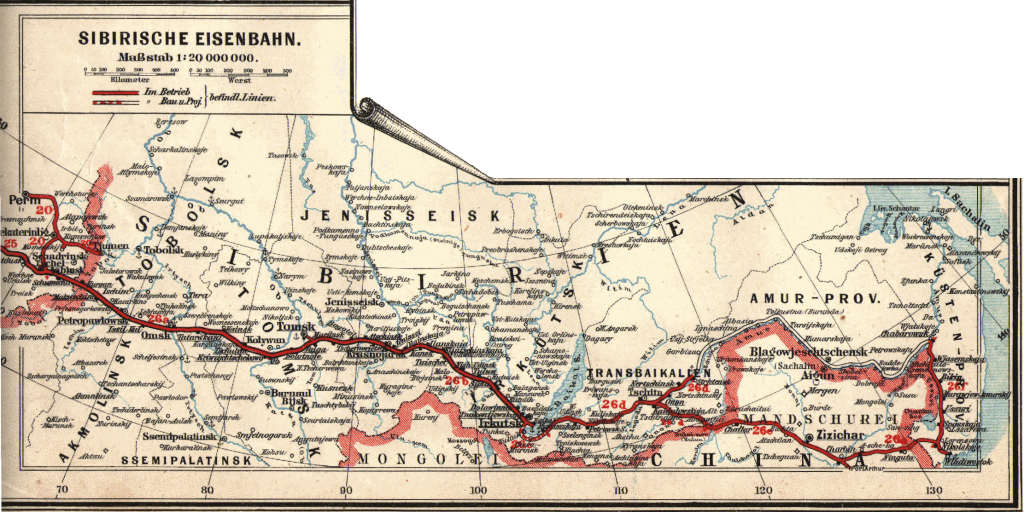 Mappa Transiberiana 1897