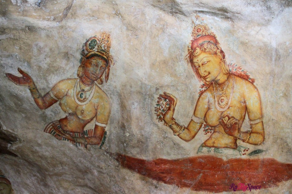 sigiriya - gli affreschi