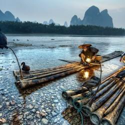 Il fiume Li e la pesca coi cormorani
