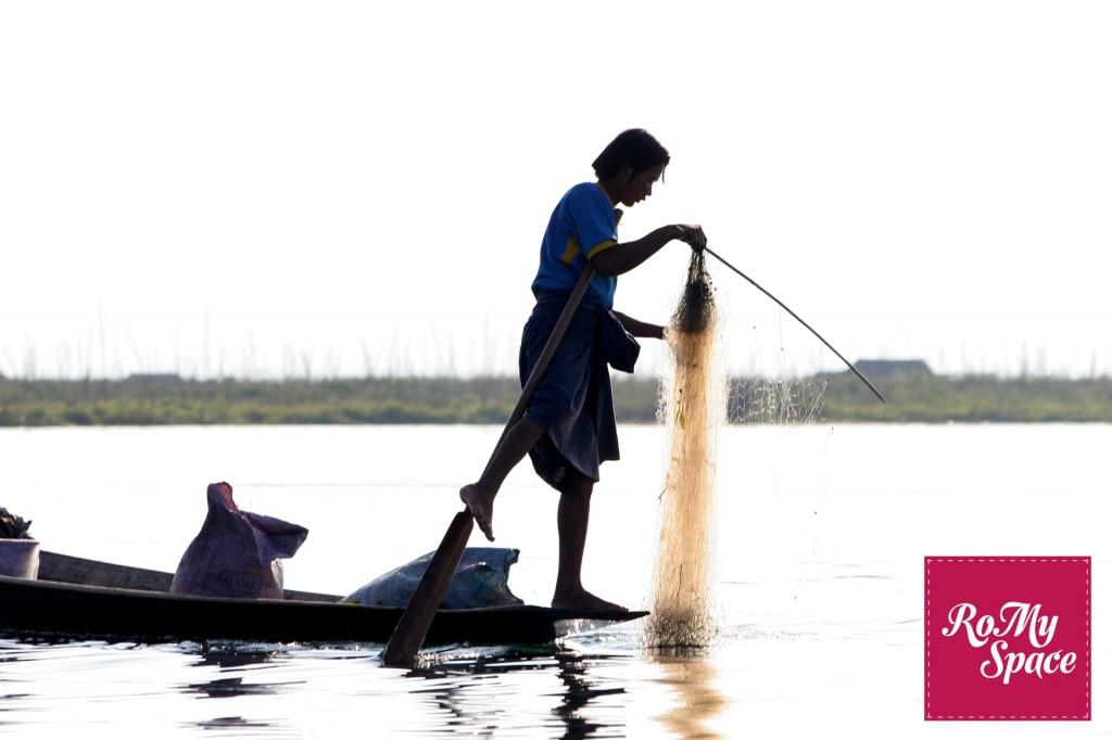 Birmania pescatore lago inle