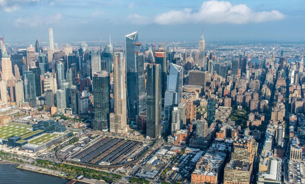 Hudson Yards Aerial View - courtesy of Related-Oxford