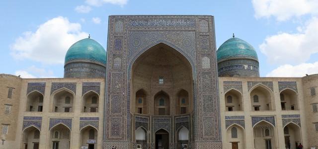 La piazza di Poi Kalyon a Bukhara in Uzbekistan
