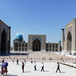 La città di Samarcanda in Uzbekistan