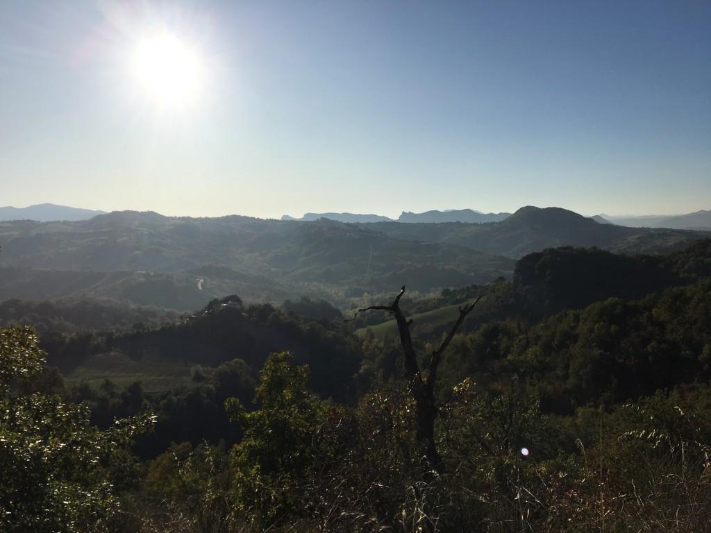 Veduta dal colle di Montecchio