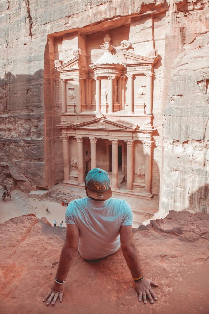 """Un grande classico quando si visita Petra, ammetto di aver esagerato con il """"tile & orange"""" in questa foto!"""